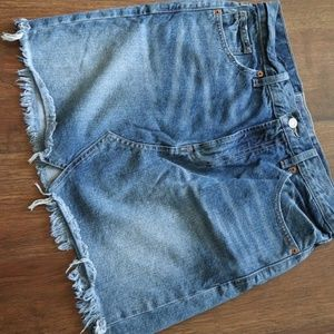 Lucky brand denim mini skirt